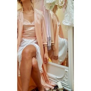 Vintage - Kayser Robe - Peach